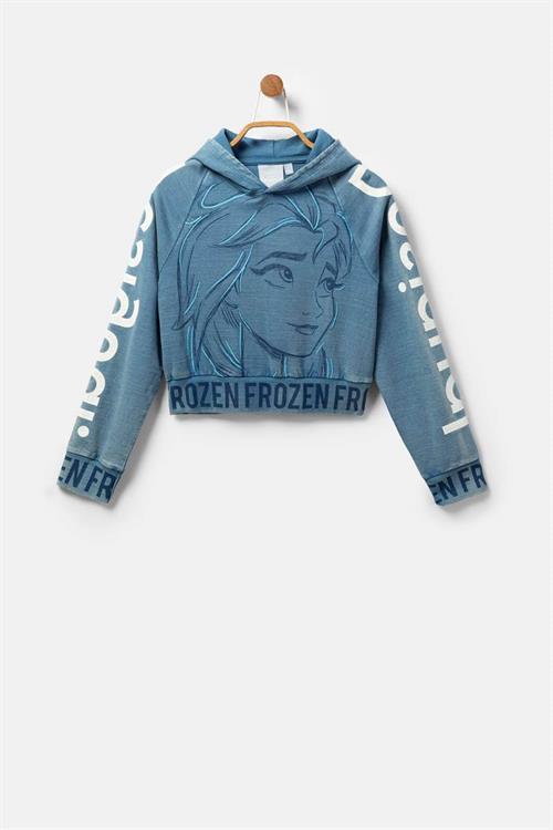 mikina Desigual Frozen MODRA