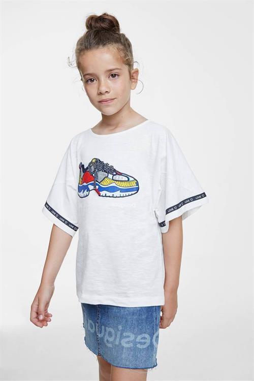 tričko Desigual Derby blanco