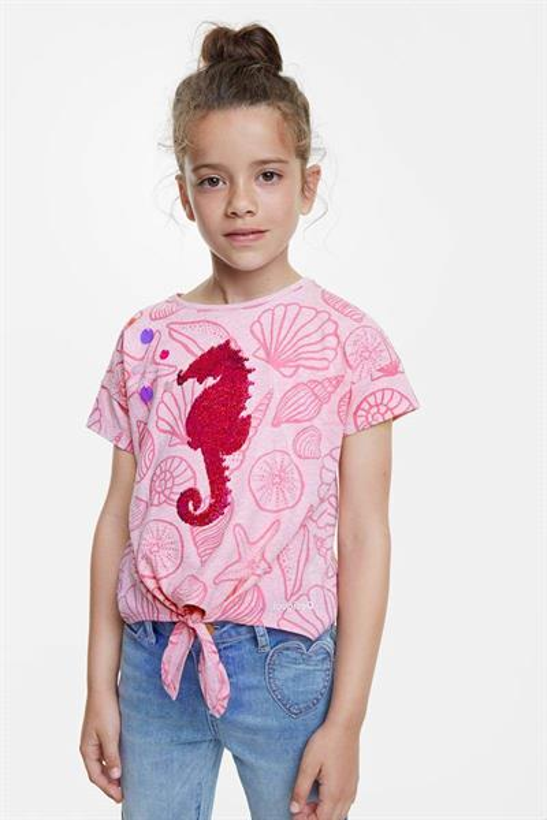tričko Desigual Aberdeen rosa helado