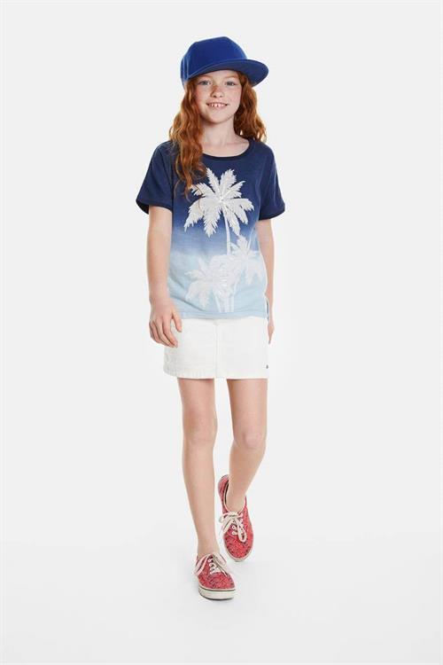 tričko Desigual Eastbourne indigo