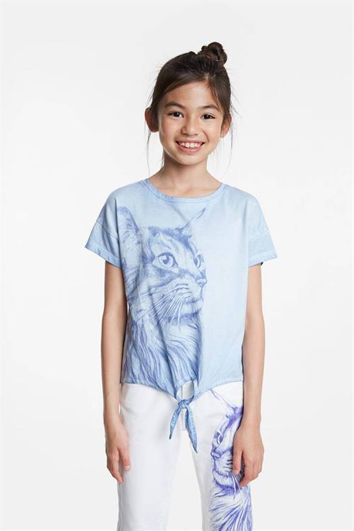 tričko Desigual Tuxtepec azul palo