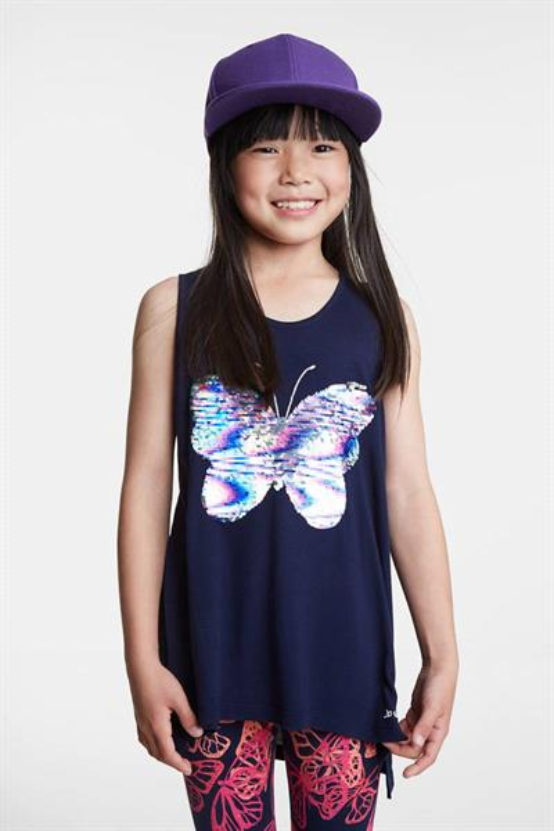 tričko Desigual Mariposa navy