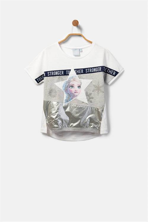 tričko Desigual Snow blanco