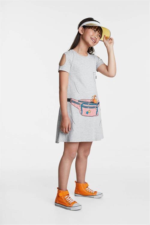 šaty Desigual Emma gris vigore medio