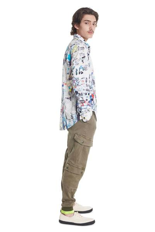 košile Desigual Crispin blanco