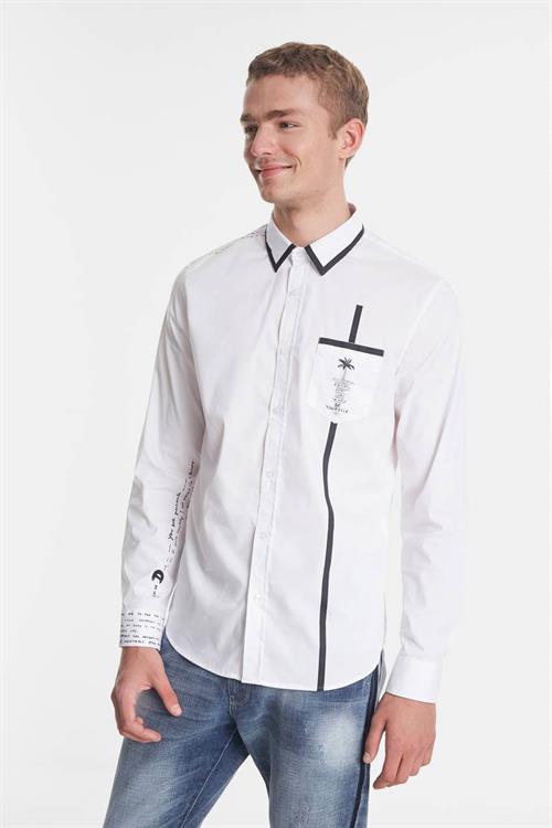 košile Desigual Saniel blanco
