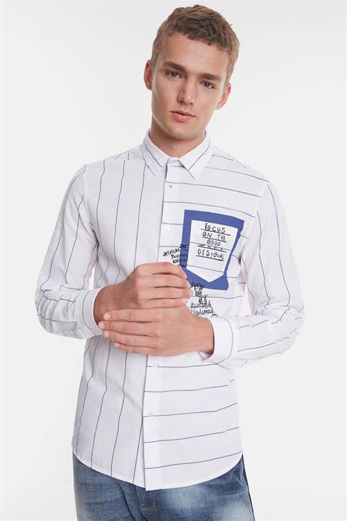 košile Desigual Darragh blanco