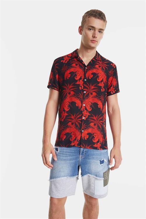 košile Desigual Cylan negro