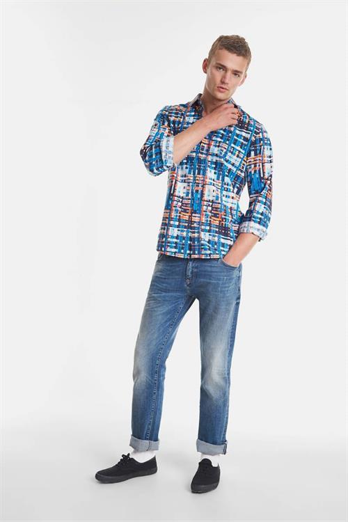 košile Desigual Ehud azul artico
