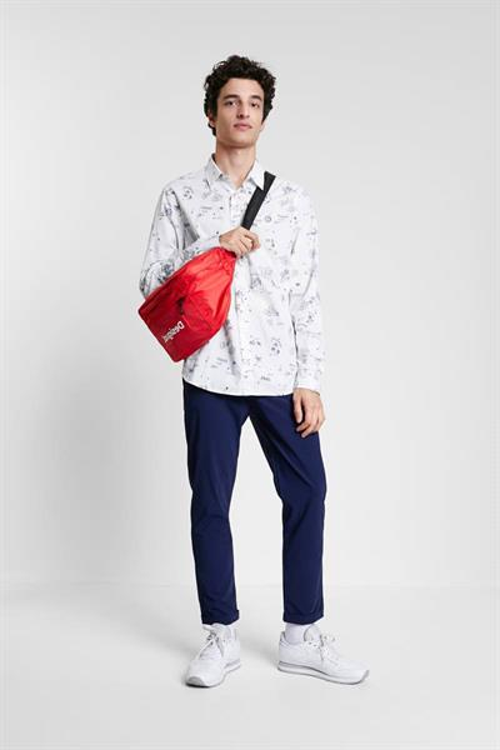 košile Desigual Ezra blanco