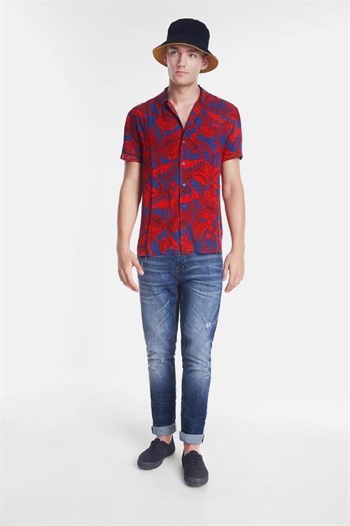 košile Desigual Finn rojo roja