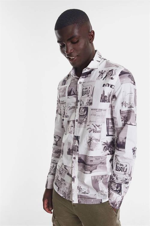 košile Desigual Frederick blanco
