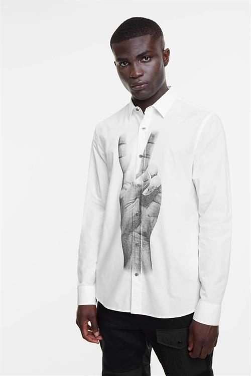 košile Desigual Gad blanco
