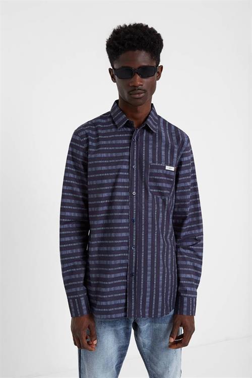 košile Desigual Gavriel negro