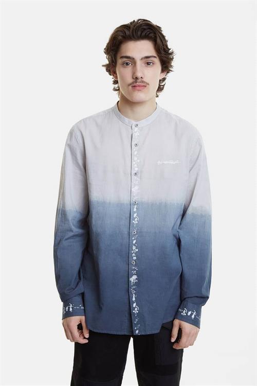 košile Desigual Harding azul mineral