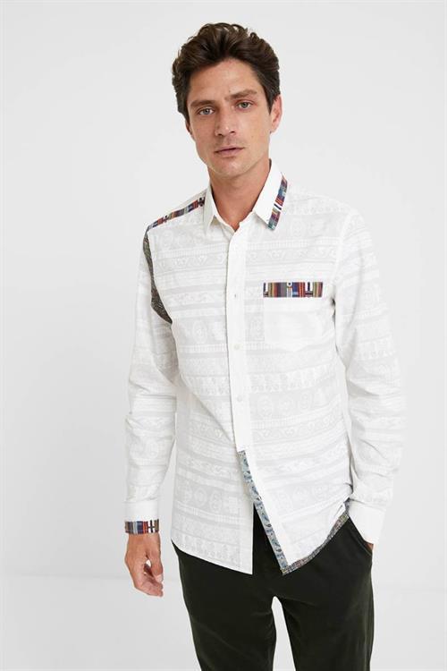 košile Desigual Nairam blanco