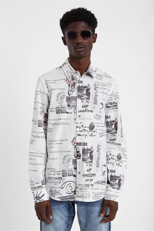 košile Desigual Romer blanco