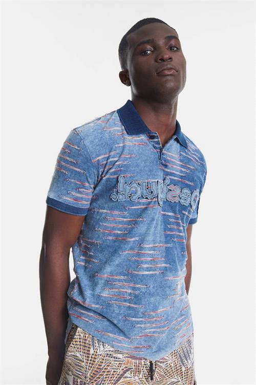 tričko Desigual Beau celeste