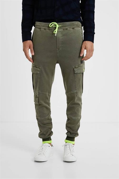 kalhoty Desigual Neron kaki