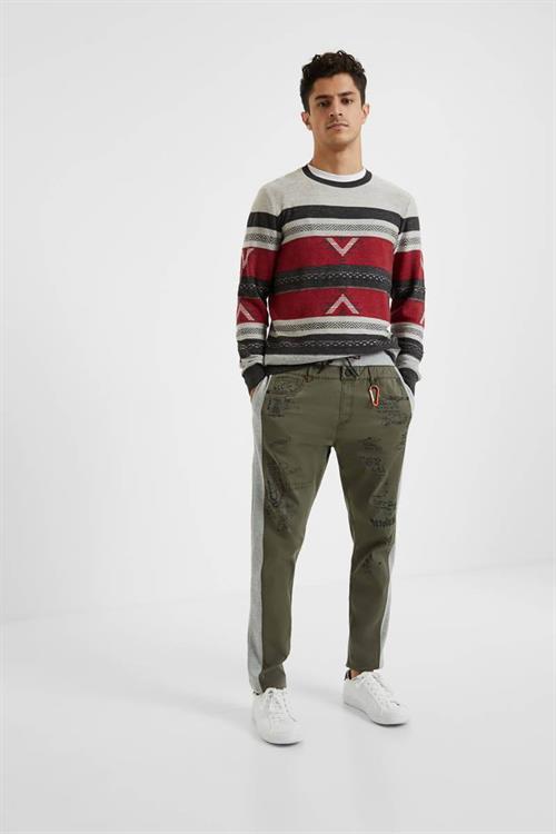 kalhoty Desigual Nissim kaki