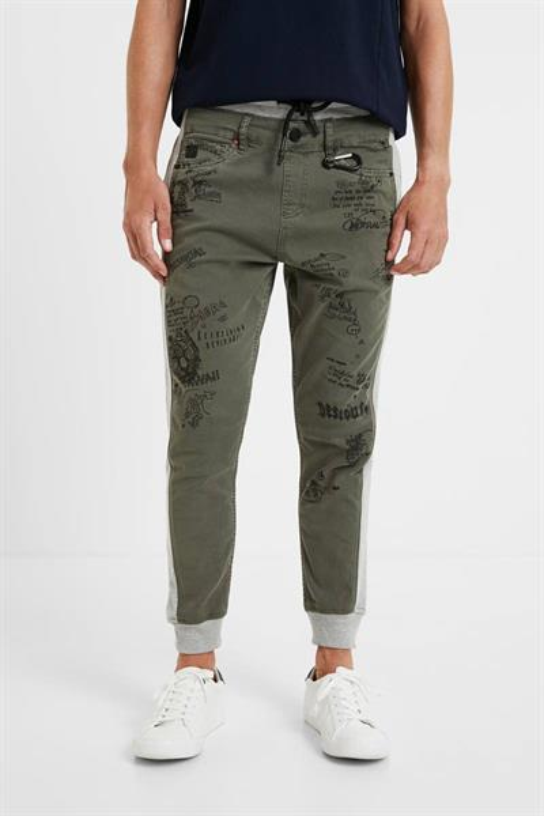 kalhoty Desigual Lucas kaki