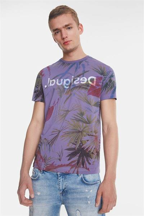 tričko Desigual Joss morado