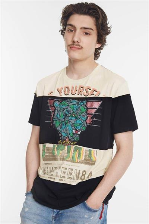 tričko Desigual Judah negro
