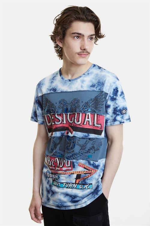 tričko Desigual Jude blue moon