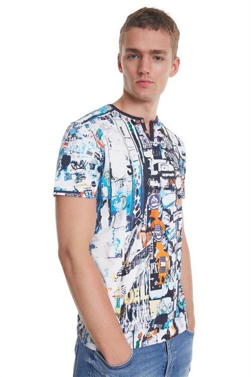 tričko Desigual Jules blanco