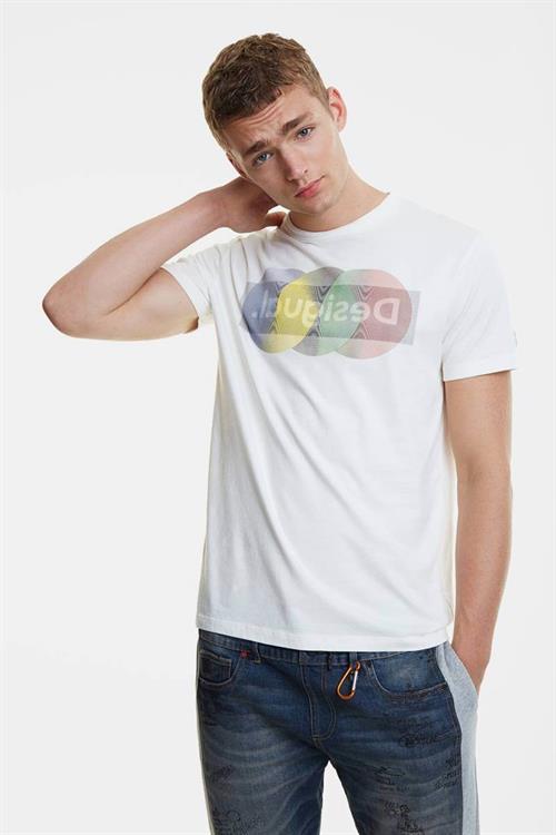tričko Desigual Karamat blanco