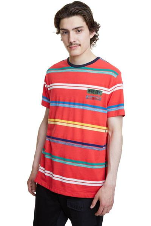 tričko Desigual Leon carmin