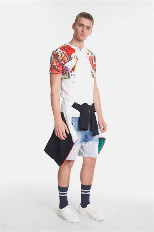 tričko Desigual Ian blanco