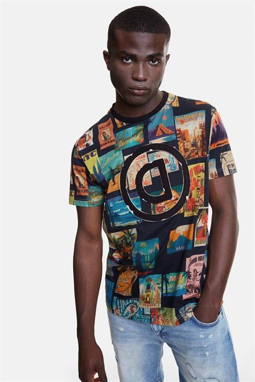 tričko Desigual Logan negro