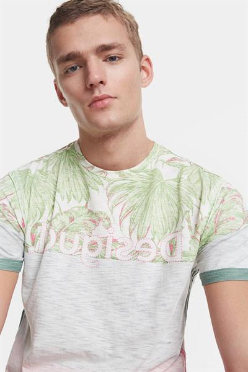 tričko Desigual Magnus blanco