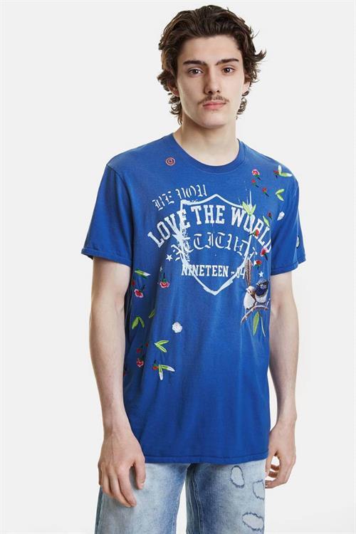 tričko Desigual Malachi twilight blue