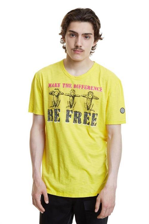 tričko Desigual Maxim chinese yellow