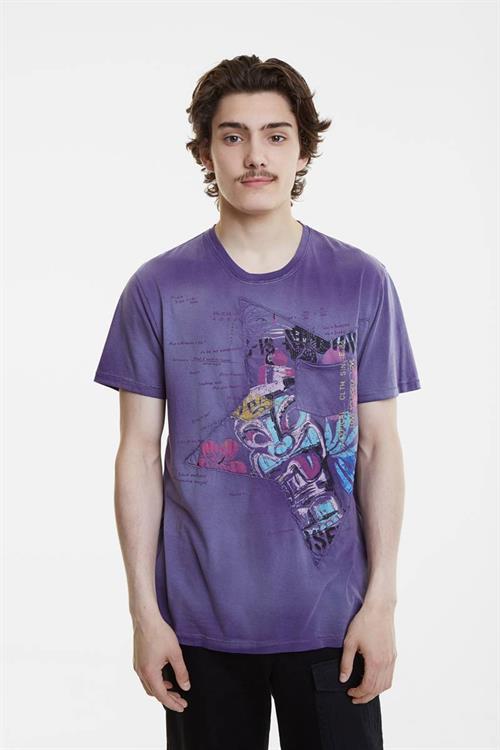 tričko Desigual Mica violeta