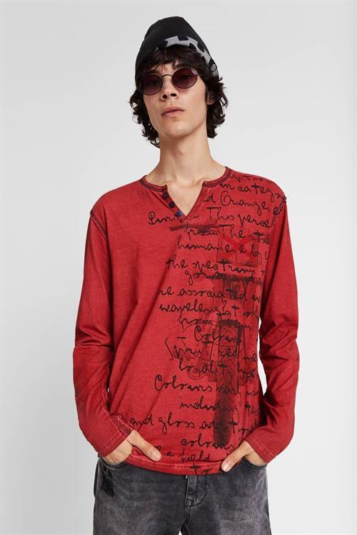 tričko Desigual Snow rojo sangre