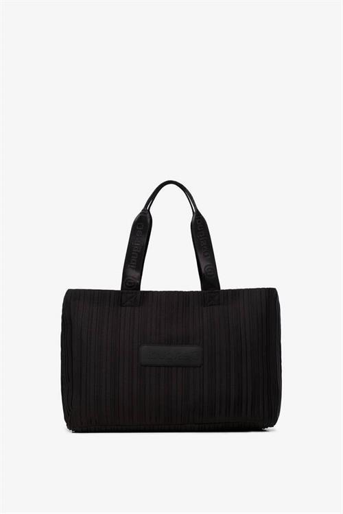 kabelka Desigual Pleats Black negro