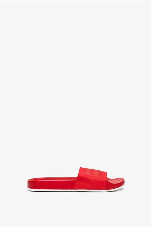 sandále Desigual Slide Logomani rojo roja