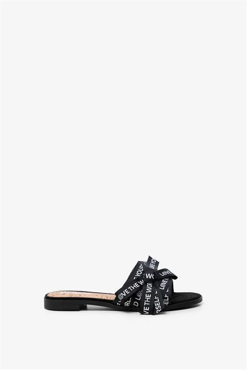 sandále Desigual Mambo Lettering negro