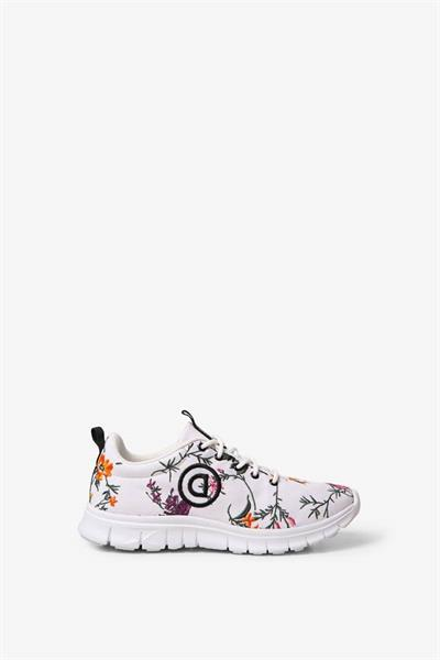 boty Desigual Running Embroid blanco