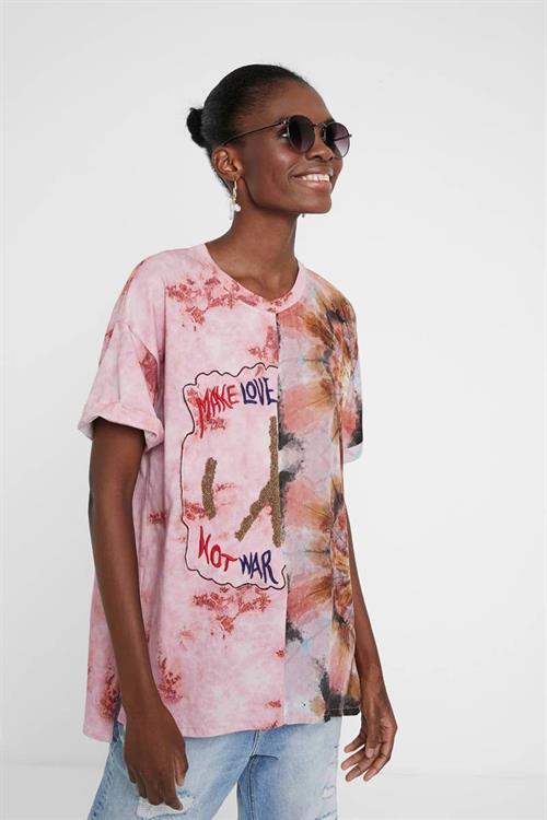 tričko Desigual Padua rosa tailandia