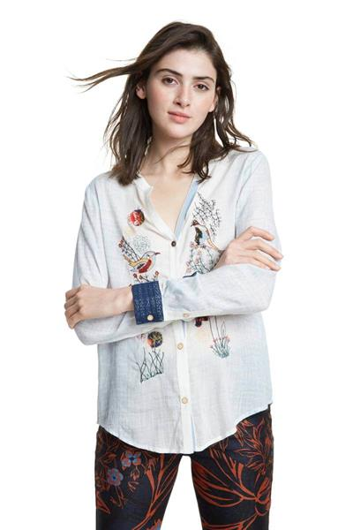 košile Desigual Matera blanco