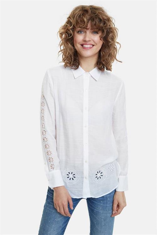 košeľa Desigual Lecce blanco