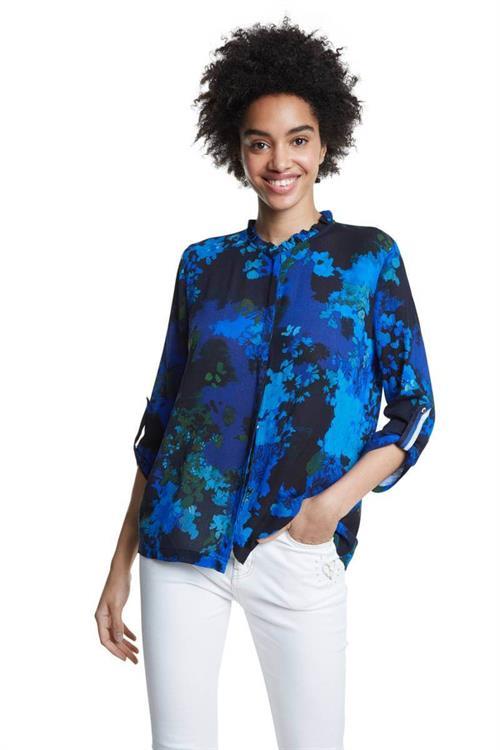 košeľa Desigual Ancona azul agata