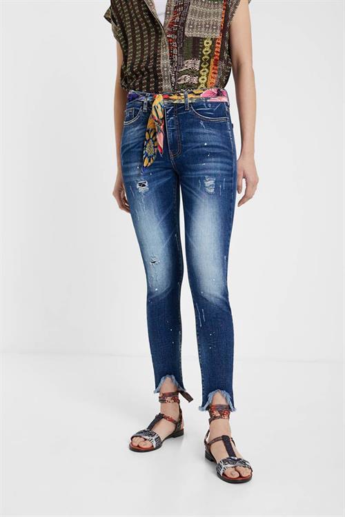 jeansy Desigual Rainbow denim dark blue