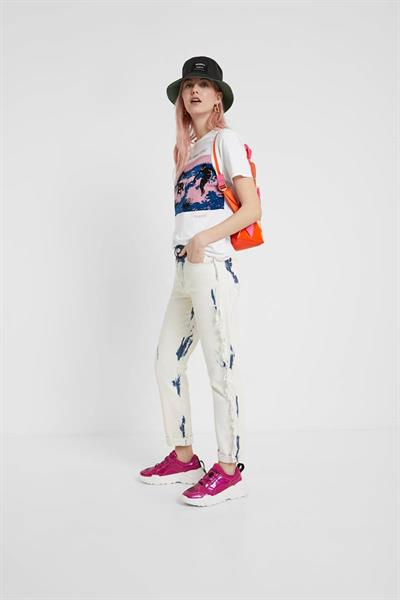 jeansy Desigual Bleach Long denim bleach