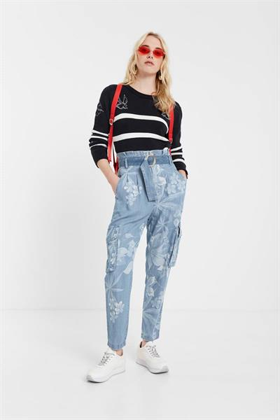 kalhoty Desigual Albiw denim medium light