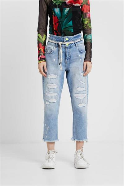 jeansy Desigual Twoway denim light wash
